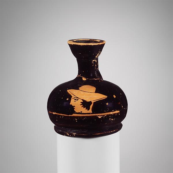 Terracotta squat lekythos (oil flask)