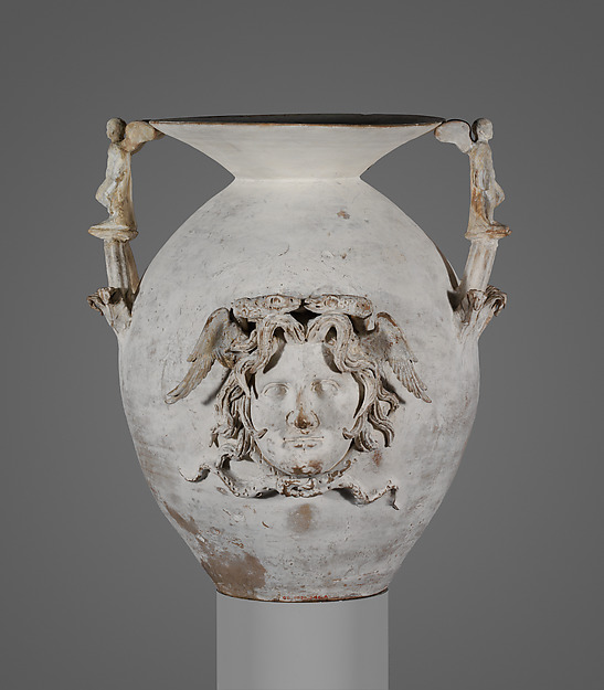 Terracotta two-handled vase