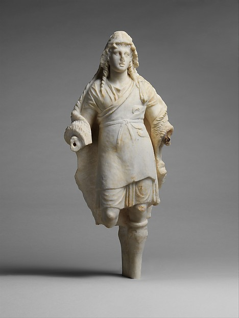Marble statuette of Dionysos