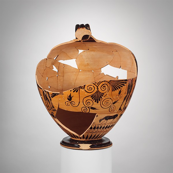 Terracotta fragments of a neck-amphora (jar)