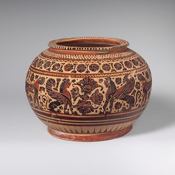 Terracotta pyxis (box)
