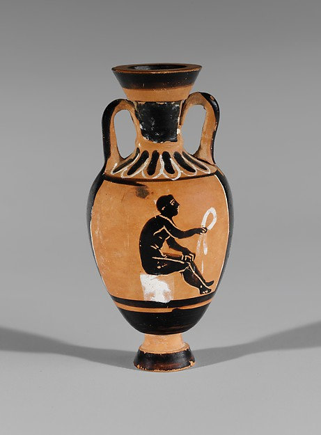 Terracotta miniature Panathenaic amphora
