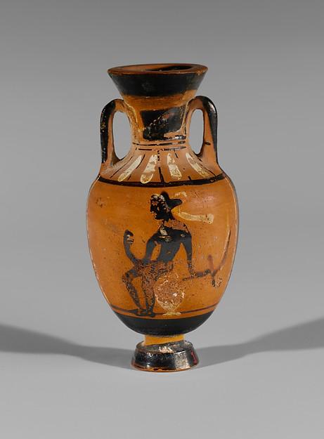 Terracotta miniature Panathenaic amphora