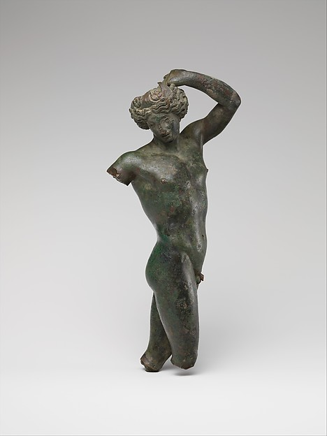 Bronze statuette of a youth dancing