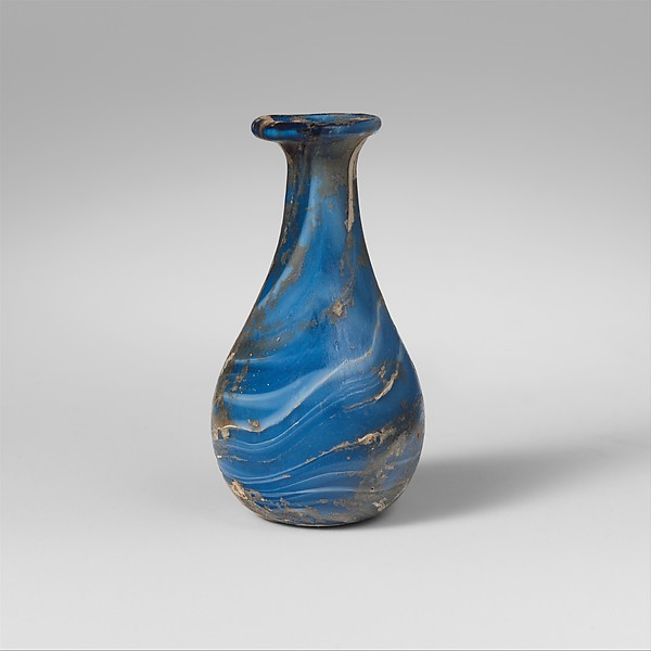 Marbled glass perfume bottle