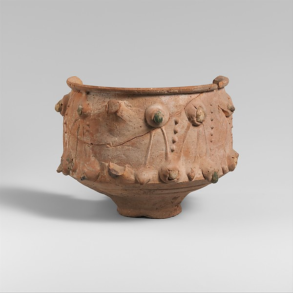 Fragmentary terracotta cup