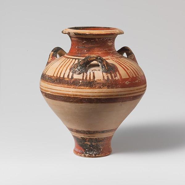 Terracotta pithoid jar
