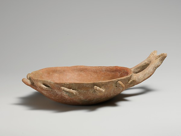 Terracotta bowl with handle