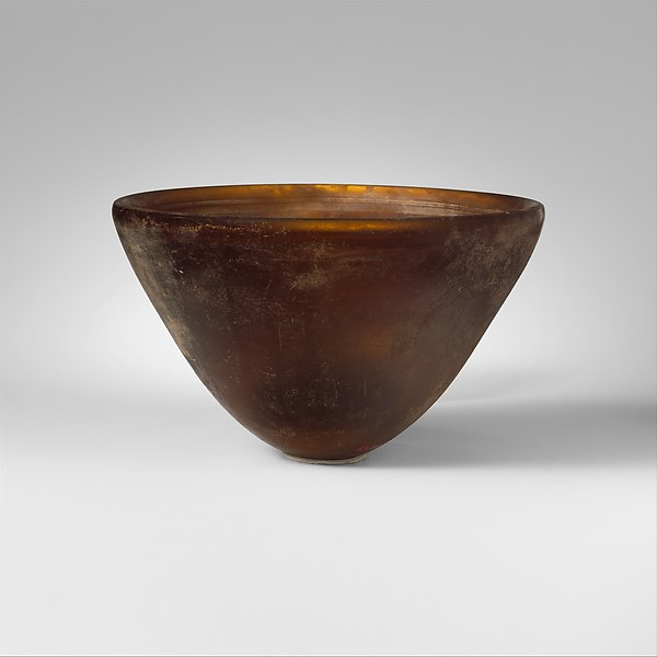 Conical glass bowl