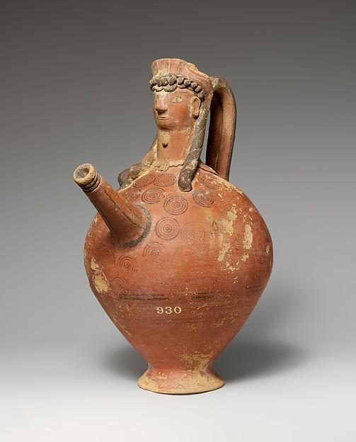 Terracotta trick vase