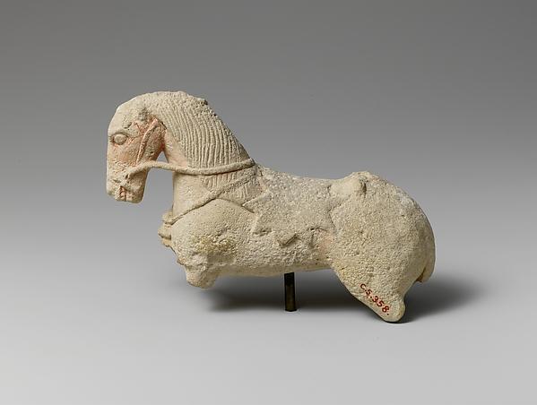 Limestone statuette of a horse