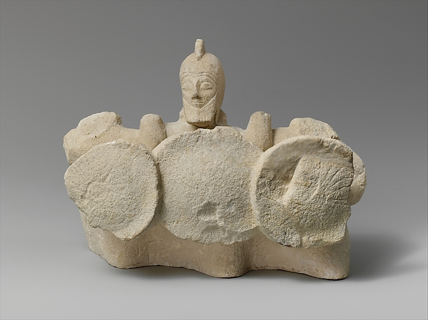 Limestone statuette of the Triple Geryon