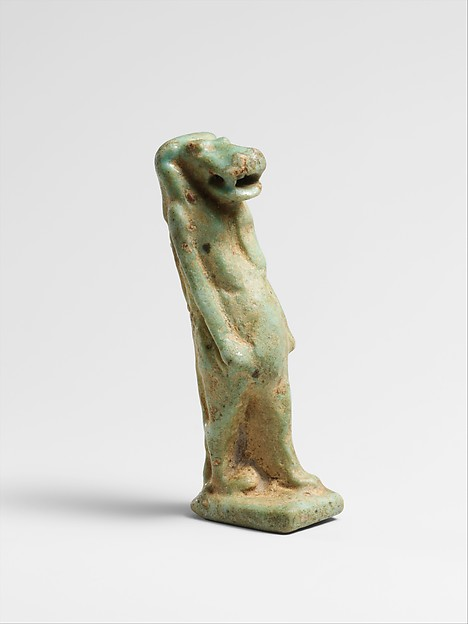 Faience amulet of Taweret