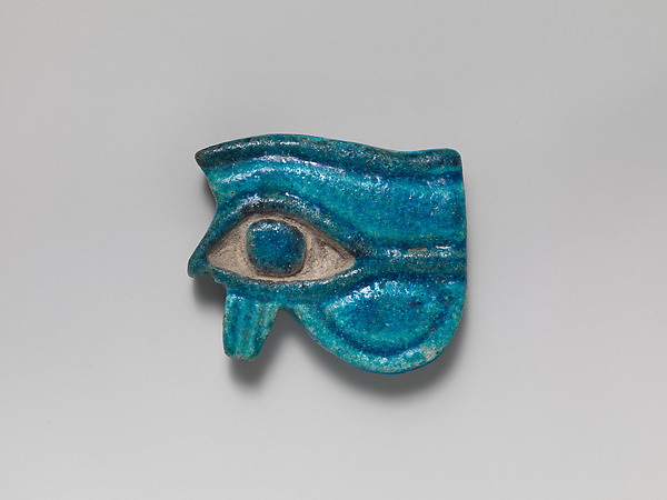 Faience Wedjat-eye amulet