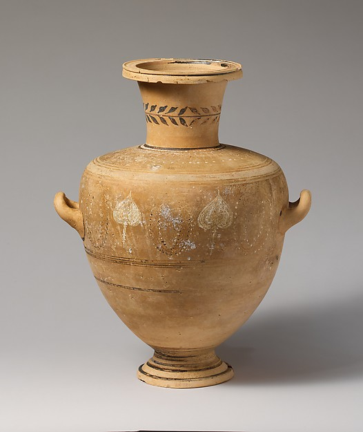 Terracotta Hadra hydria (water jar)