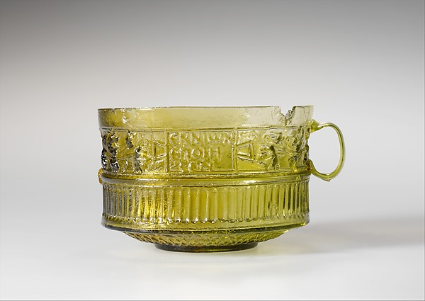 Two-handled cup signed by Ennion