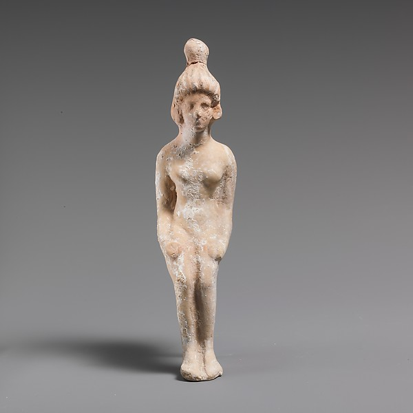 Terracotta statuette of a seated doll