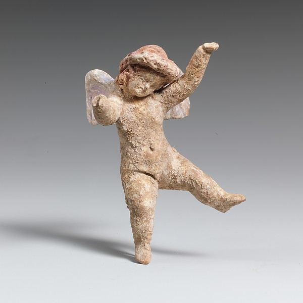 Terracotta statuette of Eros flying