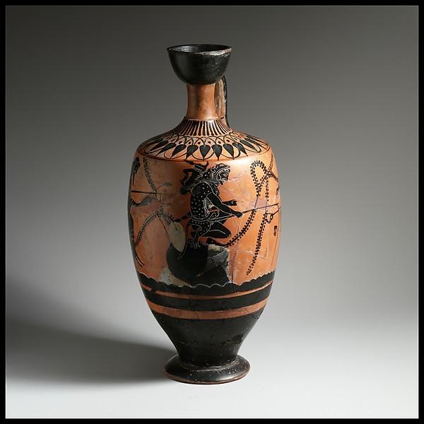 Terracotta lekythos (oil flask)