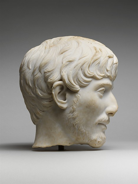 Marble portrait of a man
