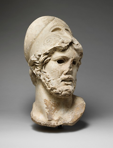 Marble head of a Greek general