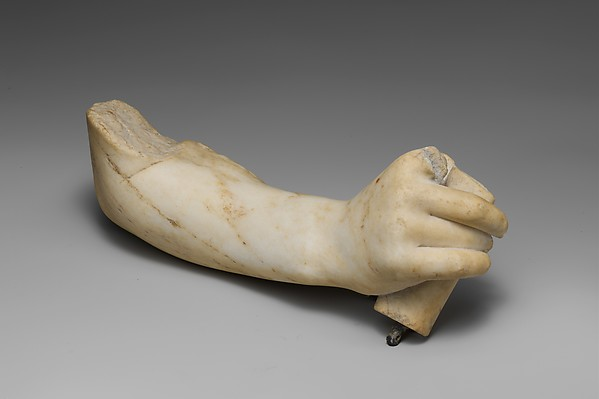 Marble right hand and forearm