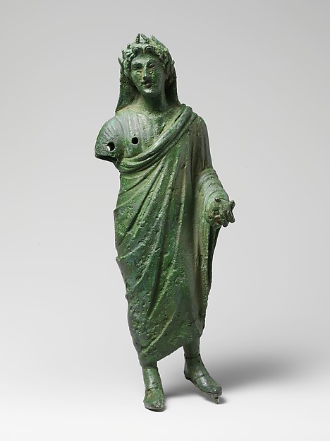 Bronze statuette of a priest sacrificing