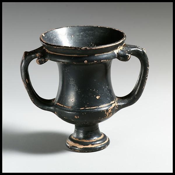 Terracotta kantharos (drinking cup)