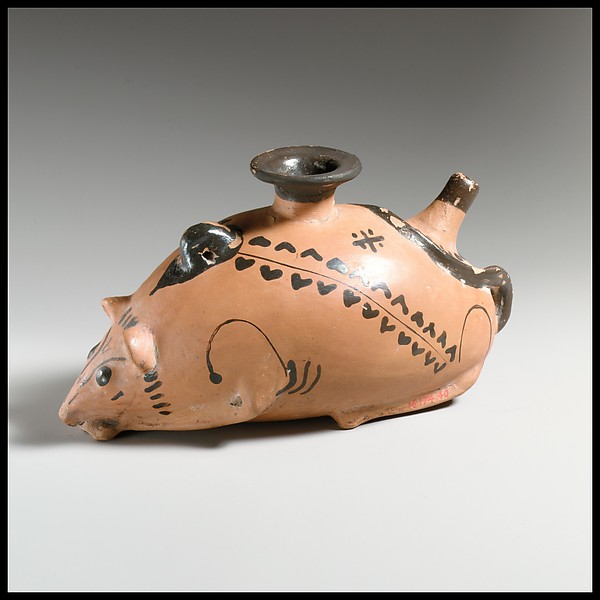 Terracotta vase in the form of a mouse