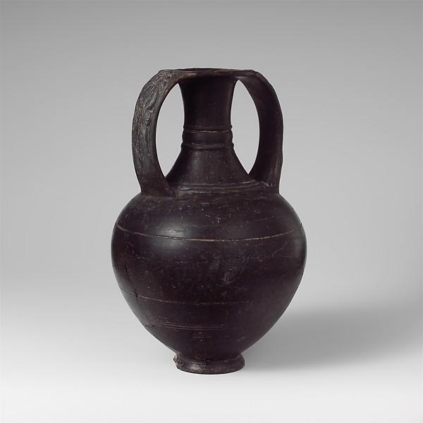 Terracotta Nicosthenic neck-amphora