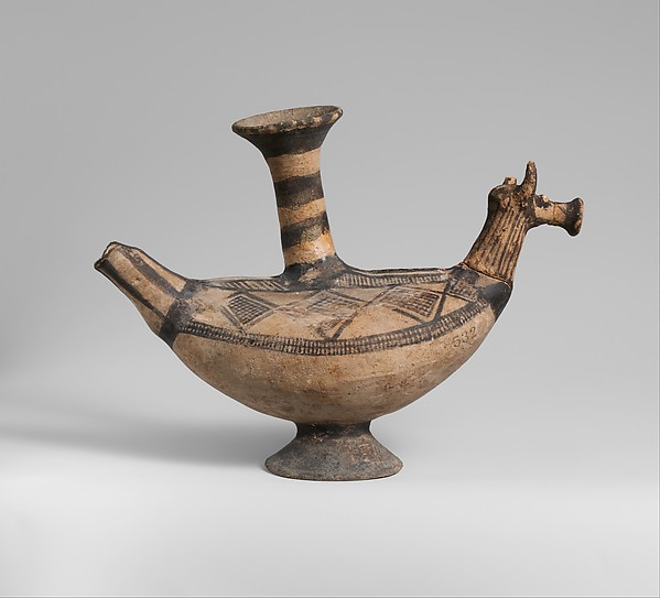 Terracotta vase in the form of an animal