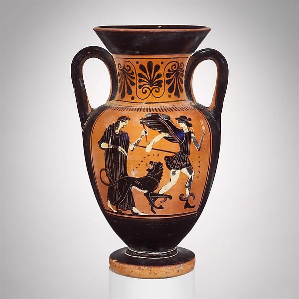 Terracotta neck-amphora (jar)