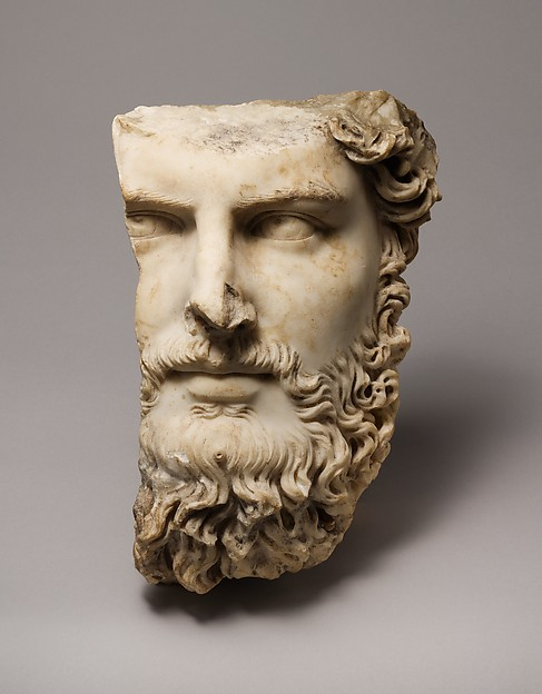 Marble portrait of the co-emperor Lucius Verus