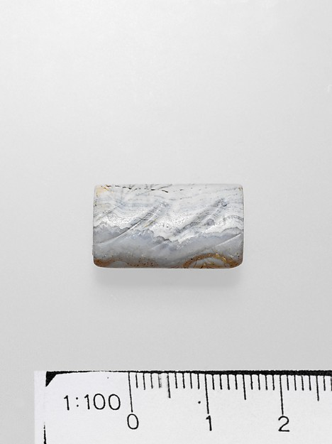 Agate flattened cylinder seal