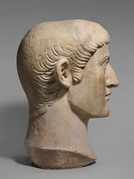 Marble portrait head of the Emperor Constantine I