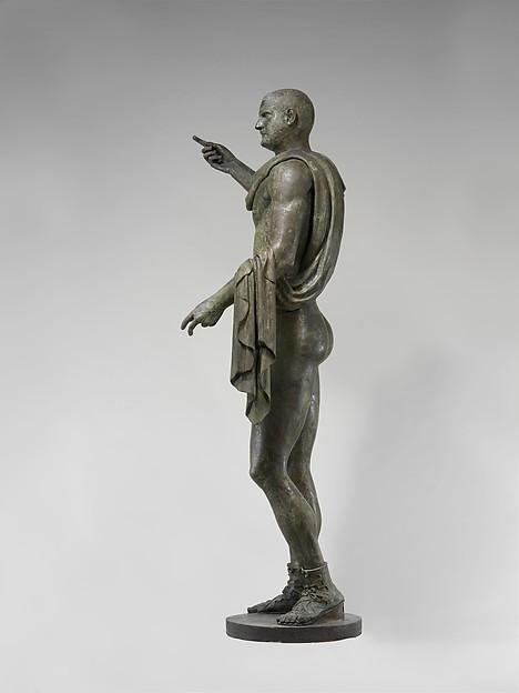 Bronze statue of the emperor Trebonianus Gallus