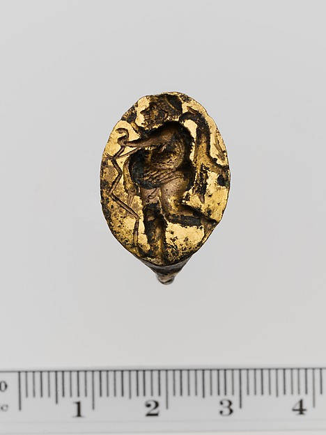 Gilt bronze ring