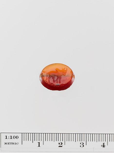 Carnelian scaraboid seal