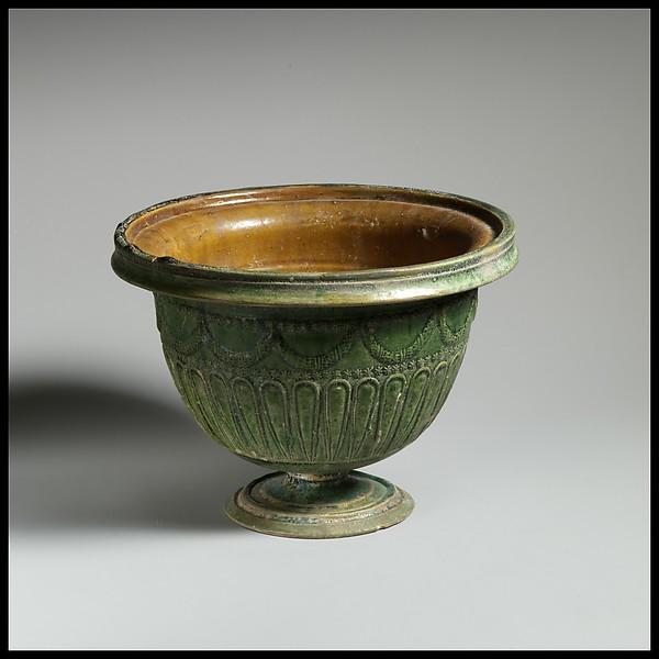 Terracotta stemmed bowl