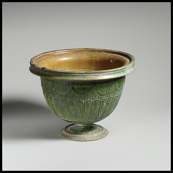 Terracotta stemmed bowl