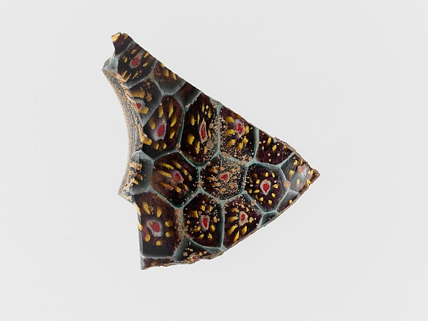 Mosaic glass bowl fragment