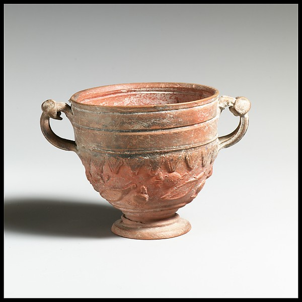 Terracotta cantharus (drinking cup)
