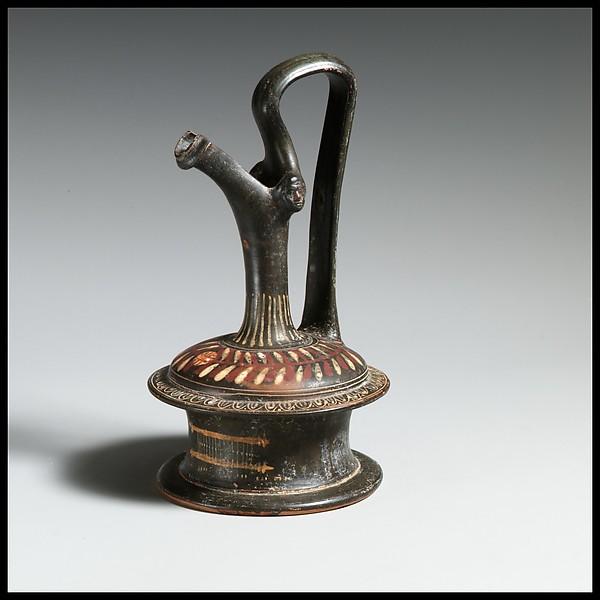 Terracotta oinochoe: epichysis (jug)