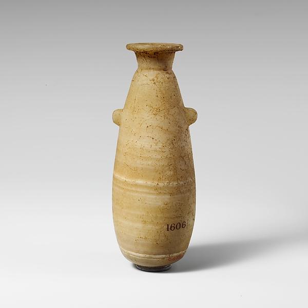 Alabaster alabastron (perfume vase)