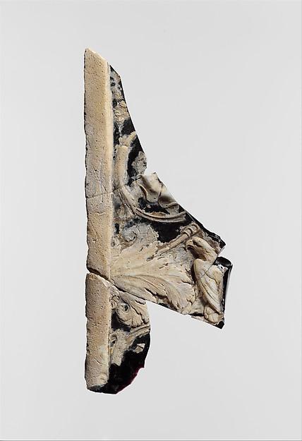 Cameo glass panel fragment
