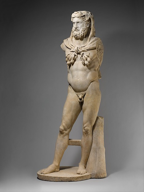 Marble statue of a bearded Hercules