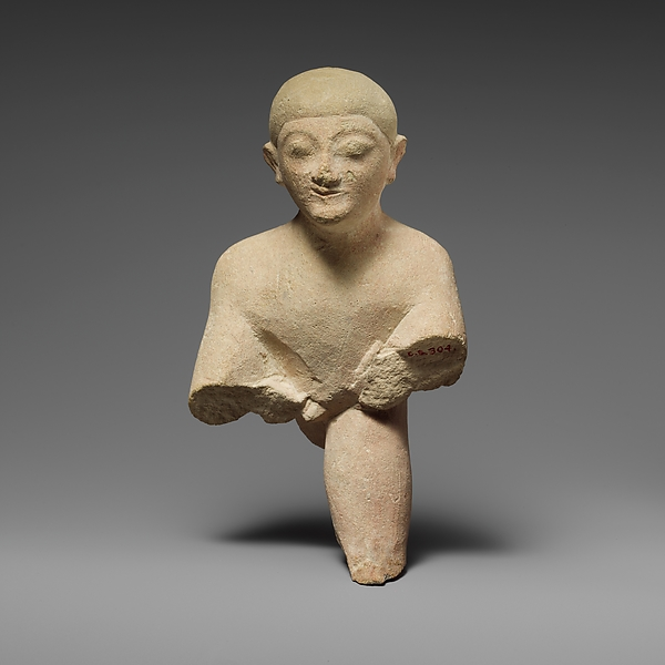 Fragment of a limestone group of wrestlers