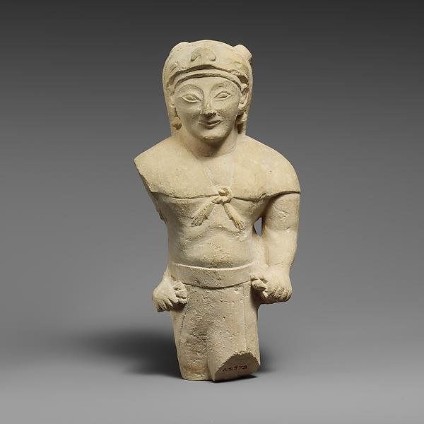 Limestone statuette of Herakles as an archer