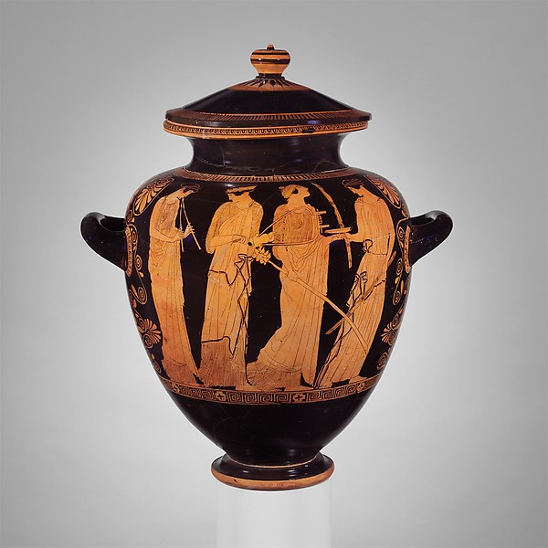 Terracotta lid of a stamnos (jar)