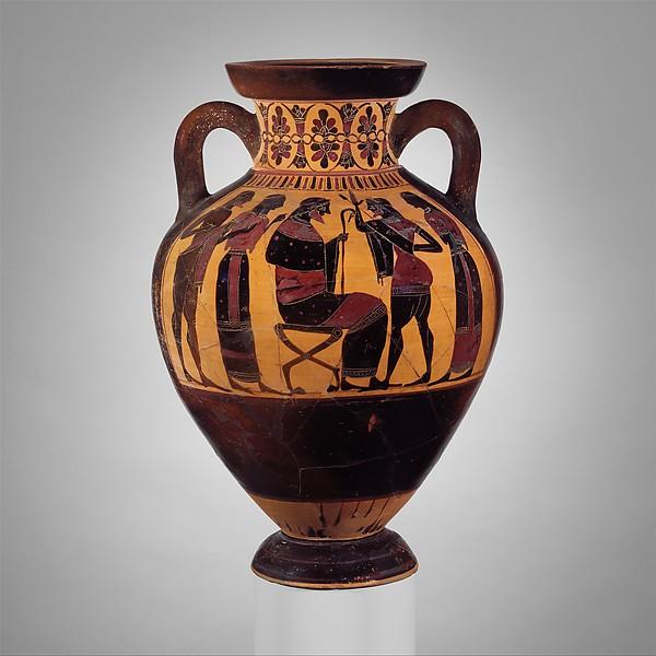 Terracotta neck-amphora of Panathenaic shape (jar)